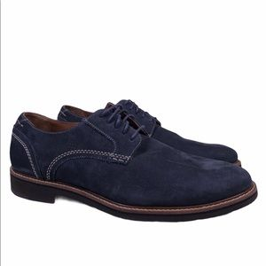 Johnston Murphy Kennesaw Blue Suede Oxford Shoes